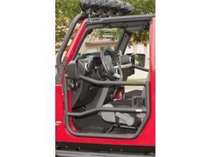 Rugged Ridge 11509.10 Front Tube Doors, Textured Black, 07-14 Jeep Wrangler JK