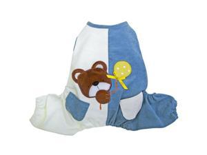 """Peek-a-boo"" Teddy Bear Jumpsuit for Dogs - L"