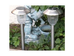 Stainless Steel Garden Landscape Solar Light with 3 ways LEDs, Olympus, Set of 8