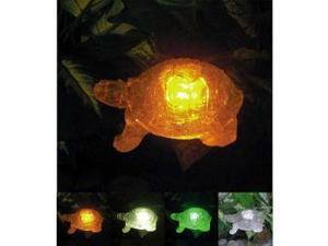 Polyresin Outdoor Garden Landscape Solar Light Color Changing LED Turtle
