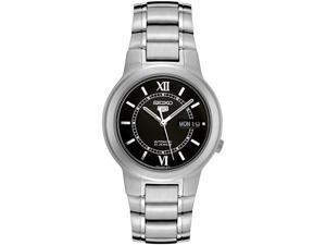 Seiko Series 5 Automatic Black Dial Stainless Steel Mens Watch SNKA23