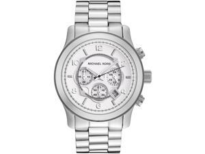 Michael Kors Silver Oversized Runway Watch MK8086