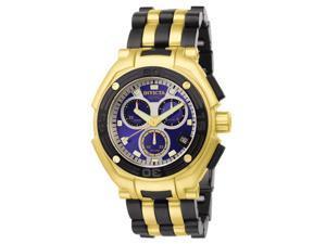 Invicta Men's Speedway/Elegant Chronograph 18k Gold Plated & Polyurethane