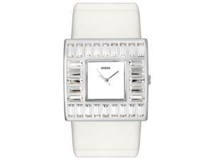 Guess Women's White Crystal White Leather