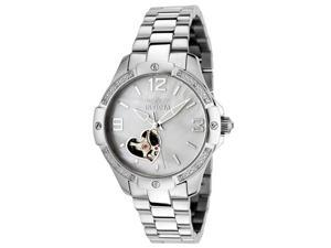 Invicta Women's Specialty Automatic Diamond Accented Stainless Steel