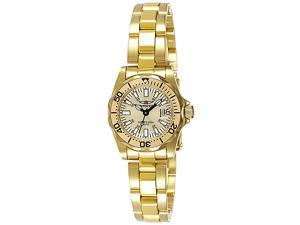 Invicta Women's Signature 23k Yellow Gold Plated SilverDial