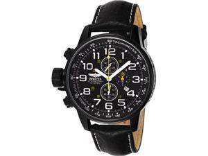 Invicta Men's Lefty Chronograph Black Leather