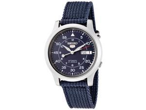 Seiko 5 Blue Dial Canvas Strap Automatic Mens Watch SNK807K2