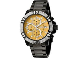 I by Invicta Men's Chronograph Yellow Dial Black Stainless Steel