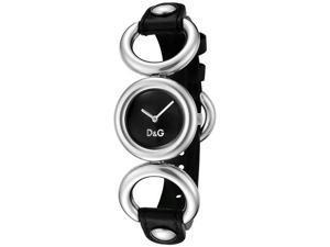 Dolce & Gabbana Women's BB Black Textured Dial Black Leather