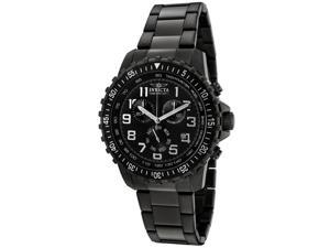 Men's Invicta II 1328 Black Dial Gunmetal Stainless Steel Chronograph Watch
