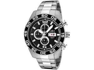 Men's Specialty Chrono Stainless Steel Black Textured Dial