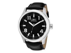 Invicta Men's Specialty Black Dial Black Leather