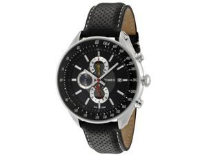 Timex Men's SL Series Chronograph Black & Grey Dial Black Leather