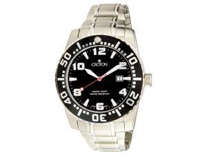 Croton Men's Aquamatic Black Dial Stainless Steel