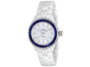 Akribos XXIV Ceramic Constructon With Baguette Bezel Fashion