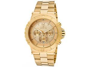 Men's Specialty Chrono 18k Gold-Plated Stainless Steel Gold-Tone Dial