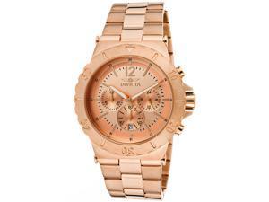 nvicta Men's Specialty/Elegant Ocean Chronograph Rose Gold Dial 18k Rose Gold Pl