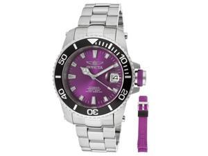 Invicta Pro Diver Automatic Purple Dial Stainless Steel