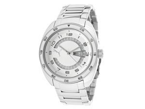 Puma Women's Take Pole Position White Dial Stainless Steel