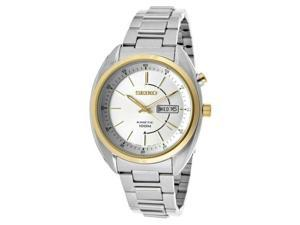 Seiko Men's Kinetic Silver Dial Stainless Steel