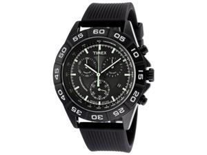 Timex Men's Chronograph Black Dial Black Silicone
