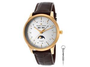 Maurice Lacroix Men's Automatic Beige Dial Brown Genuine Leather