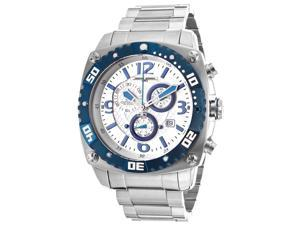 Jorg Gray Men's Chronograph Textured Silver Dial Stainless Steel
