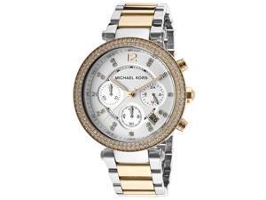 Michael Kors Parker Chronograph Crystal Two Tone Womens Watch MK5626