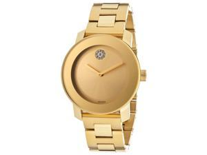 Movado Bold Yellow Gold Ion Plated Stainless Steel Mens Watch 3600104