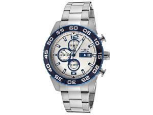 Invicta 13675 Men's Specialty Chronograph Blue Bezel Silver Dial Stainless Steel