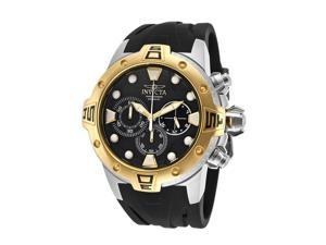 Men's Excursion Chronograph Black Dial Black Polyurethane