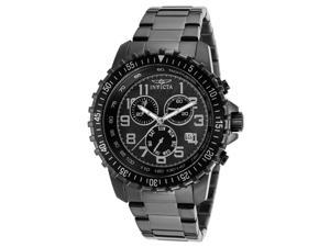 Invicta Men's Specialty Chronograph Black Dial Black IP Stainless Steel