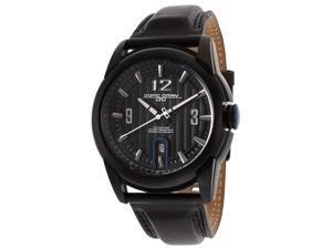 Men's Jorg Gray Black Dial Black Genuine Leather
