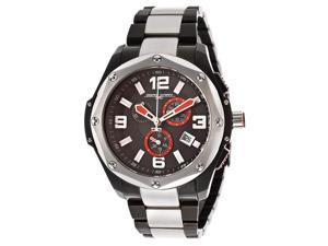 Jorg Gray Men's Chronograph Textured Black Dial Two Tone Stainless Steel