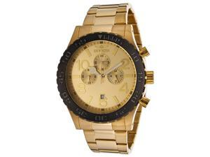Men's Specialty Chrono 18K Gold Plated SS Gold-Tone Dial