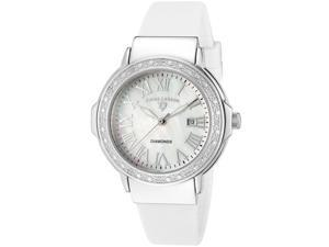 South Beach Diamonds White Silicone MOP Dial