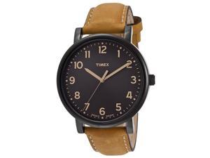 Timex T2N677 Premium Originals Black Tan Men's Watch