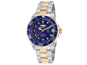 Invicta 17042 Men's Pro Diver Auto Two-Tone Stainless Steel Silver-Tone Dial Watch