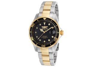 Men's Pro Diver Two-Tone Stainless Steel Black Dial