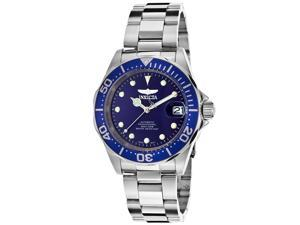 Invicta 17040 Men's Pro Diver Auto Watch - Stainless Steel Blue Dial & Bezel