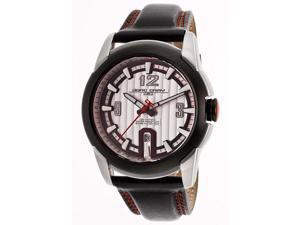Jorg Gray Men's Textured Silver Dial Genuine Leather