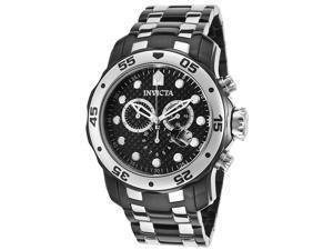 Men's Pro Diver Chronograph Black IP & Silver-Tone Black Carbon Fiber