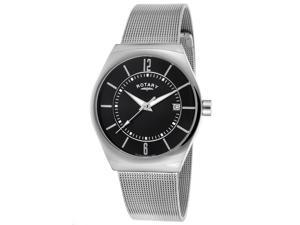 Rotary GB00033-19 Men's Stainless Steel Watch with Black Dial