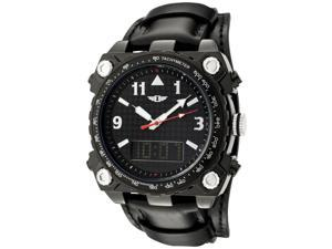 I By Invicta 70970-005 Men's Analog Digital Black Genuine Leather, Dial, And Ip Ss Watch