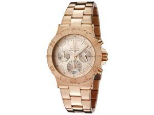 Women's Specialty Chrono 18K Rose Gold Plated SS Rose-Tone Dial