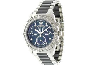 Swiss Precimax SP12076 Women's Desire Elite Ceramic Diamond Black Ceramic Swiss Quartz Watch with Mother-Of-Pearl Dial