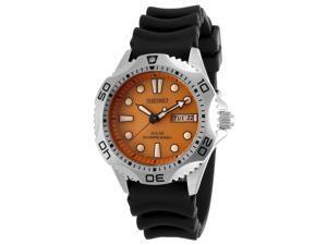 Seiko Men's Diver's Solar Black Rubber Orange Dial
