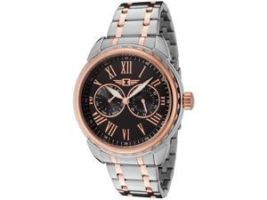 I By Invicta 89052-003 Men's Two-Tone Ss Black Dial Rose-Tone Accent Watch