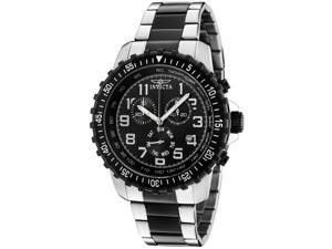 Men's Invicta II 1326 Chronograph Black Dial Two Tone Watch